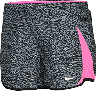 Big Girls' Dri-Fit 5K Printed Running Shorts Black Grey Pink 835648-065 (M)