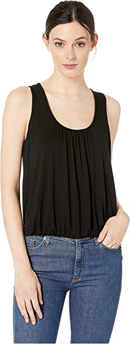 Refined Jersey Shirred Tank Top