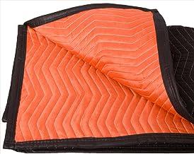 "Forearm Forklift FFMB Full Size Medium Weight Quilted Moving Blanket (45.6 lb/dz), 72"" x 80"", Blaze Orange/Black"
