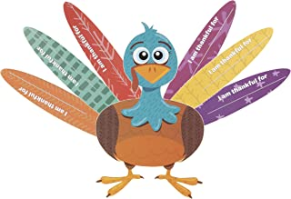 Thanksgiving Turkey Craft Kit - 8-Set Thanksgiving Party Game Activities and Decoration Supplies, DIY Cardstock Turkey and Feathers Assembly, For Kids and Adults