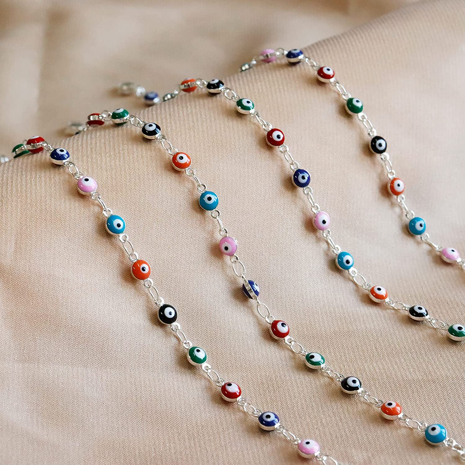 choice of all Dainty Evil Eye Necklace for Women,Colorful Evil Eye Beaded Choker Necklaces for Girls