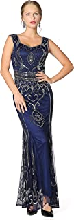 Sequin Beaded Long Dresses, Gatsby Theme Party Night Sexy Women Flapper Dress Prom