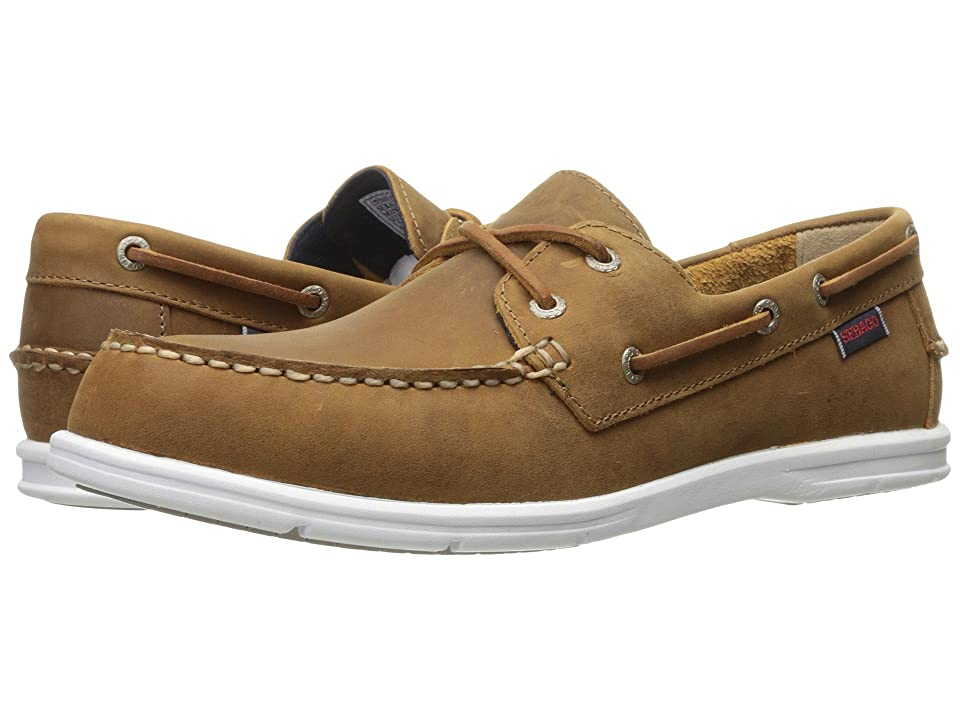 Sebago Litesides Two Eye (Medium Brown Leather) Men