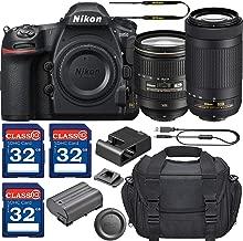 Nikon D850 DSLR Camera with AF-S 24-120mm VR Lens & 70-300mm ED Lens + 3 Memory Card Bundle