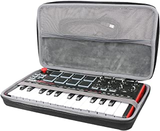 Hard Travel Case for Akai Professional MPK Mini MKII 25-Key Ultra-Portable USB MIDI Drum Pad & Keyboard Controller by co2CREA