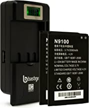 Two (2pk) Bastex Replacement Battery for N9100 Radiant, Z740, Z955, Z730, ZTE Concord 2+Plus One (1) Bastex External Dock LCD Battery Charger