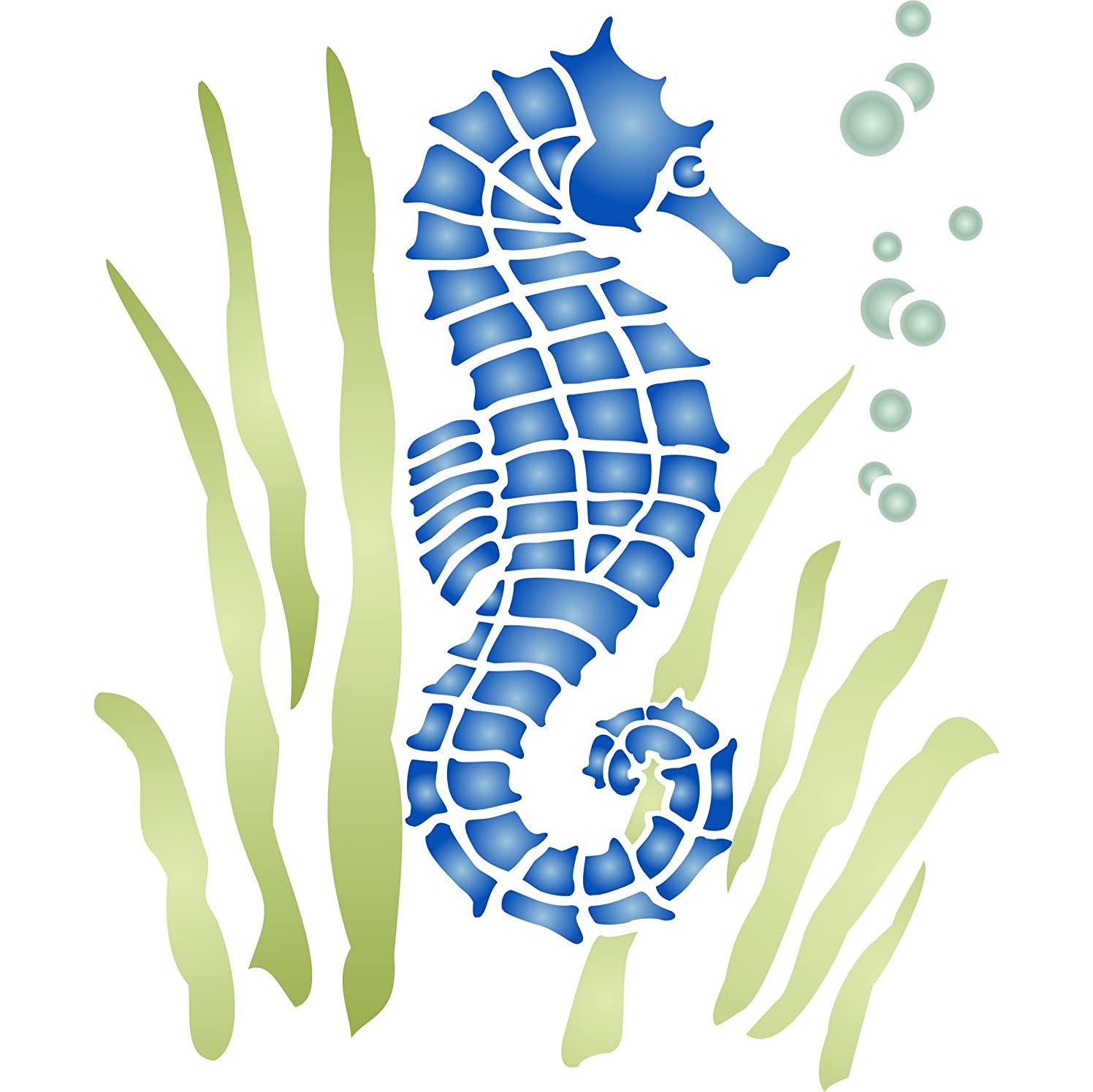 Seahorse Stencil (size 4.5