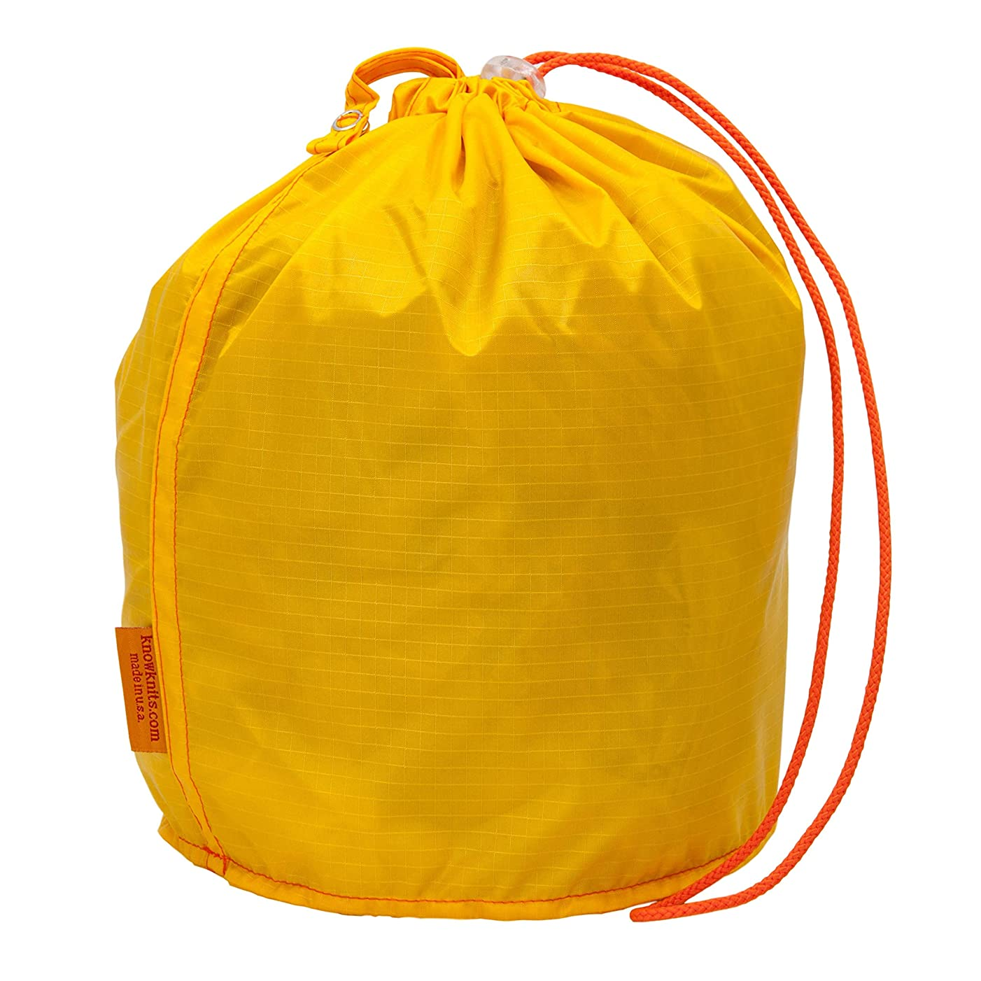 GoKnit Dandelion Yellow Pouch Knitting Project Bag with Loop & Drawstring (Medium)