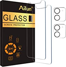 Ailun 2 Pack Screen Protector Compatible for iPhone 12 Mini [5.4 inch] with 2 Pack Tempered Glass Camera Lens Protector,Tempered Glass Film,[9H Hardness]-HD
