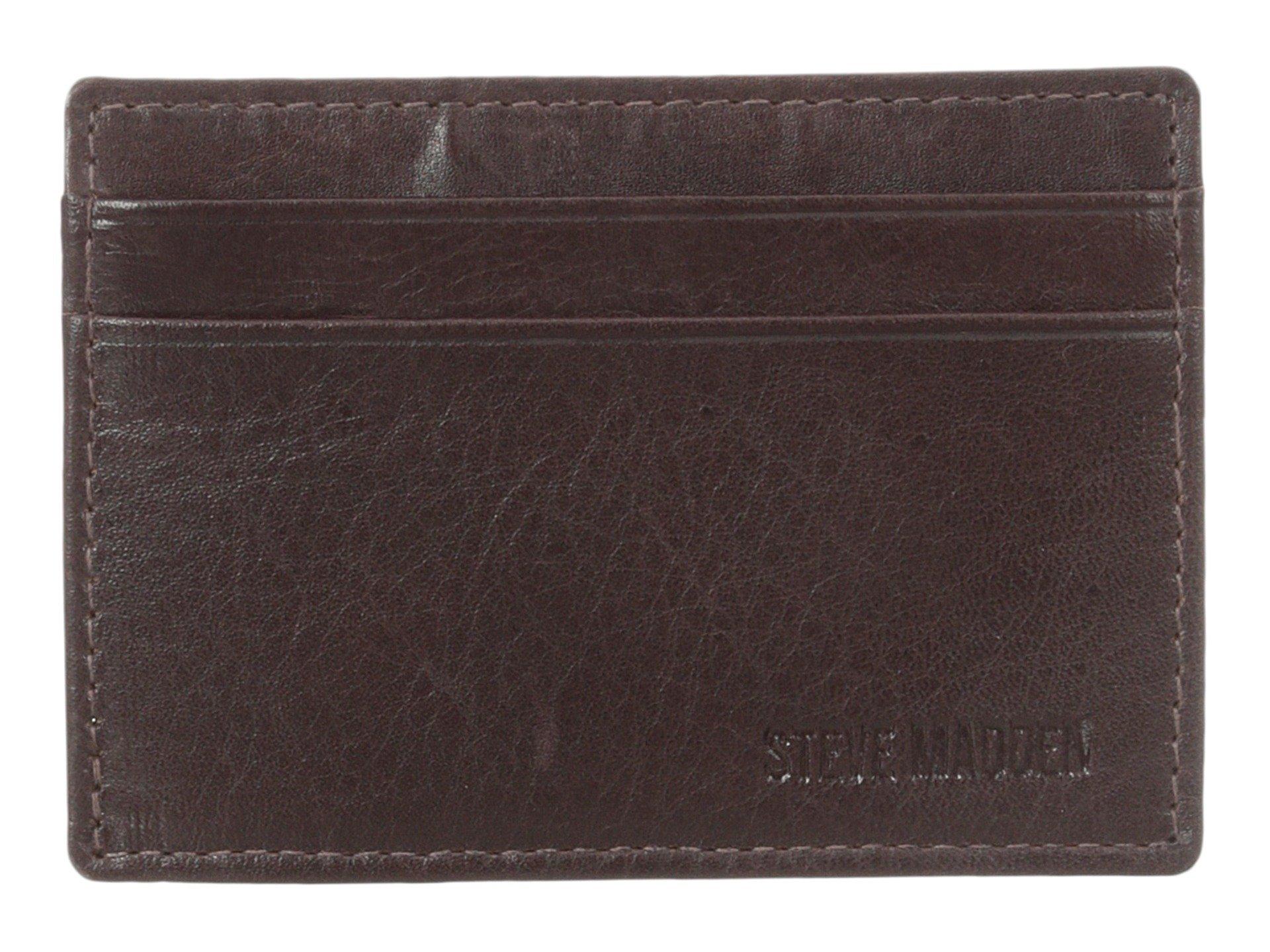 Monedero para Hombre Steve Madden Mealu Leather Card Carrier  + Steve Madden en VeoyCompro.net