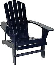 Sunnydaze Classic Outdoor Wooden Adirondack Patio Chair, Navy Blue