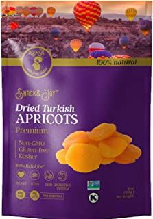 AZNUT Turkish Dried Apricots, No Sugar Added, 100% Natural Premium Quality, NON-GMO Project Certified, Kosher, Gluten-Free...