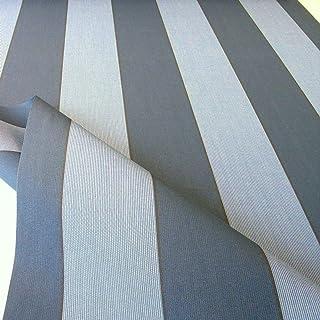 TOLKO Sonnenschutz Markisen-Stoffe als Meterware Zum Nähen mit UV-Schutz 50   Wasserdicht, Extra Langlebig - Ohne Ausbleichen Dunkelgrau Zinn Blau Meliert