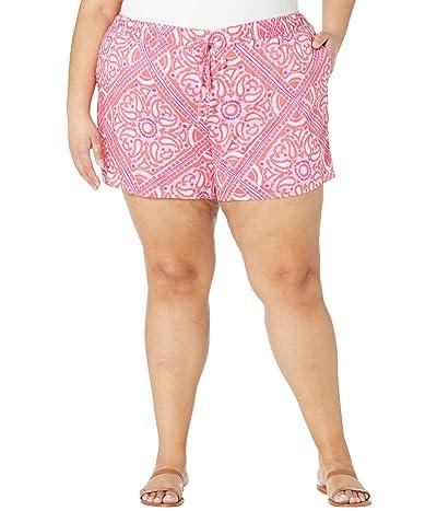 Vineyard Vines Plus Size Scarf Print Pull-On Shorts Women