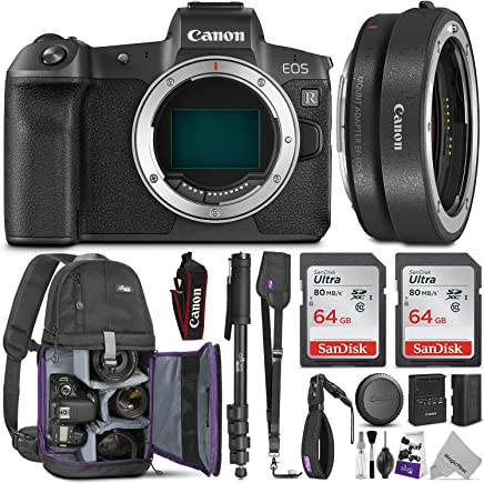 $2098 » Canon EOS R Mirrorless Digital Camera Body w/Canon Mount Adapter EF-EOS R & Advanced Photo and Travel Bundle - Includes Canon USA Warranty, Altura Photo Backpack, 2pcs SanDisk 64gb SD Card, Monopod