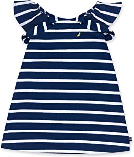 Girls' Ruffle Striped Sleeveless Dress