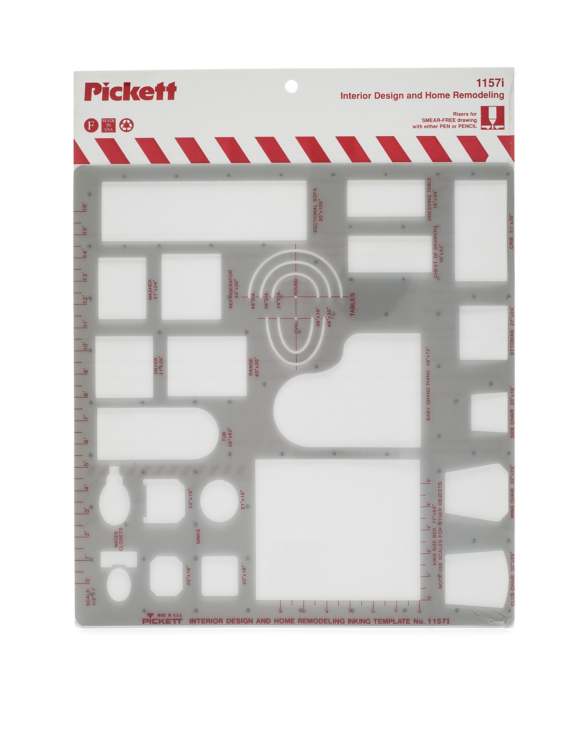 Pickett Interior Design And Home Modeling Template 1 2 Inch Scale 1157i Buy Online In Brunei Pickett Products In Brunei See Prices Reviews And Free Delivery Over Bnd100 Desertcart