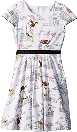 London Girl Fit N Flare Dress (Big Kids)