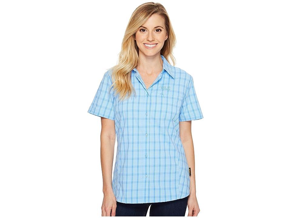 Jack Wolfskin Centaura Stretch Vent Shirt (Cool Water Checks) Women