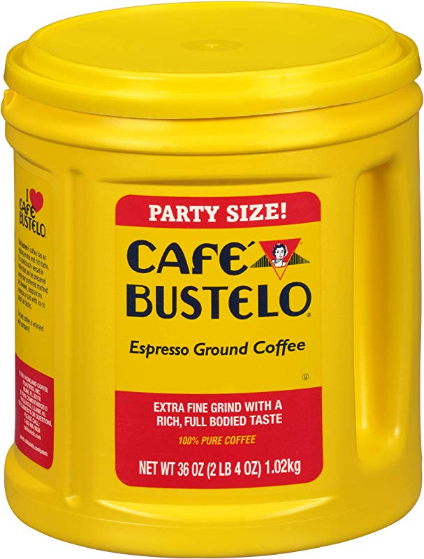 Caf Bustelo Espresso Ground Coffee 36 Oz Party Size Canister