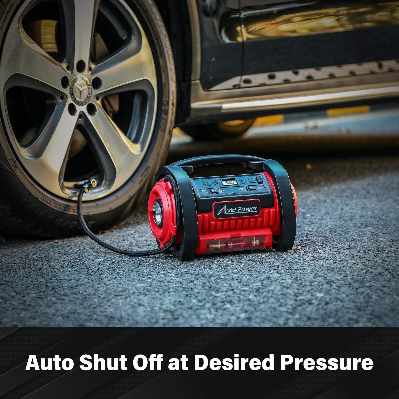 Avid Power AC/DC Dual Power Tire Inflation Air Compressor