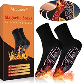 Heated Socks, Magnetic Socks, Thermal Foot Warmer Socks, Comfortable & Breathable Winter Warm Cotton Socks for Outdoor Spo...