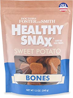DRS. Foster and Smith Healthy Snax Sweet Potato Bones Dog Treats