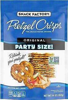 Snack Factory Pretzel Crisps Original Flavor, Large Party Size, 14 Ounce