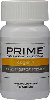 Prime Cognitin Memory Support Formula, Improves Memory, Helps Maintain Normal Brain Physiology, Supports Overall Cognitive...