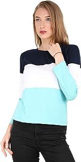 Reifica Women's Multicolor Full Sleeves Tshirt