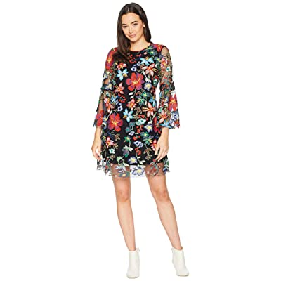 Hale Bob Out Of This World Embroidered Lace Virginie Dress (Red) Women
