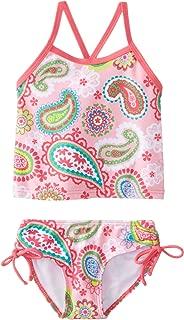 Kanu Surf Girls' Alexa Beach Sport 2-pc Banded Tankini Swimsuit