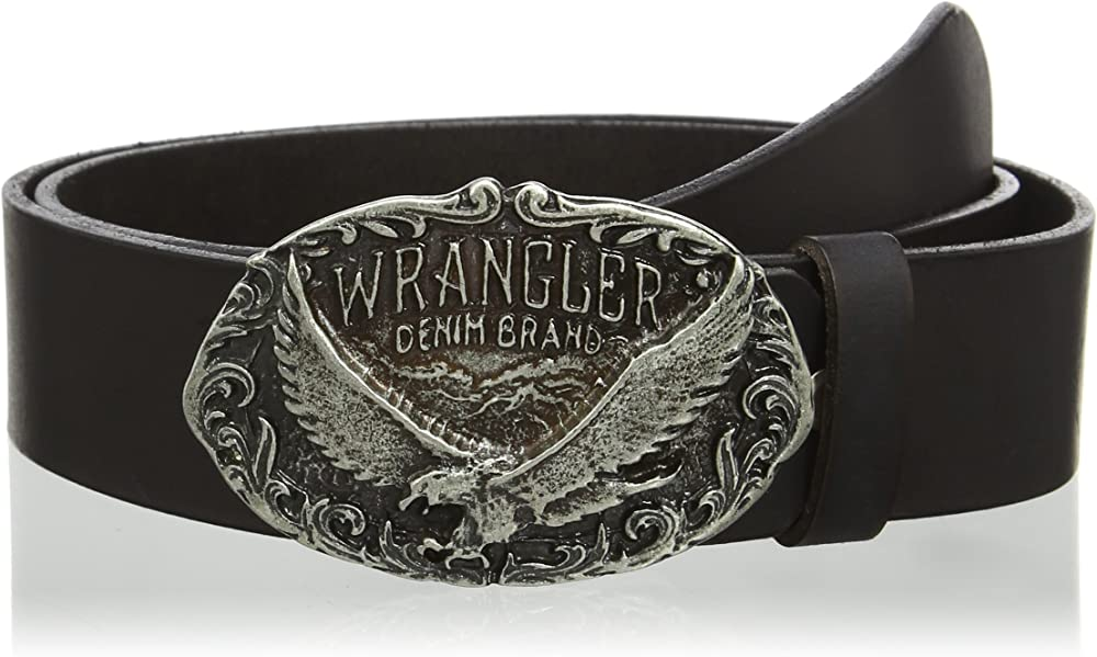 Wrangler eagle buckle, cintura per uomo in pelle W0178U101