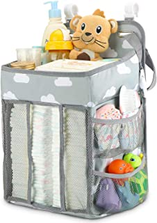 Hanging Diaper Caddy Organizer – Diaper Stacker for Changing Table, Crib, Playard..