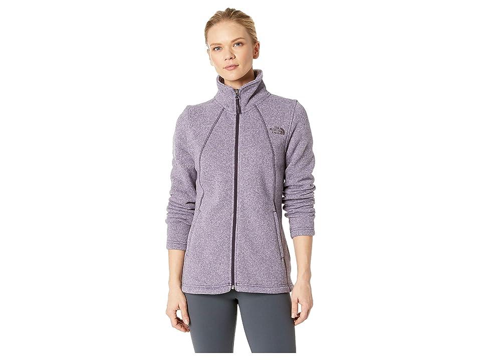 The North Face Crescent Full Zip (Galaxy Purple Multi Crescent Heather) Women