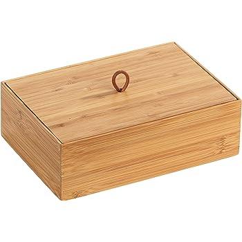 Wenko Terra - Organizador de bambú (3 compartimentos, caja de almacenamiento, cesta para el baño), marrón, Maße (B x H x T): 22 x 7 x 15 cm: Amazon.es: Hogar