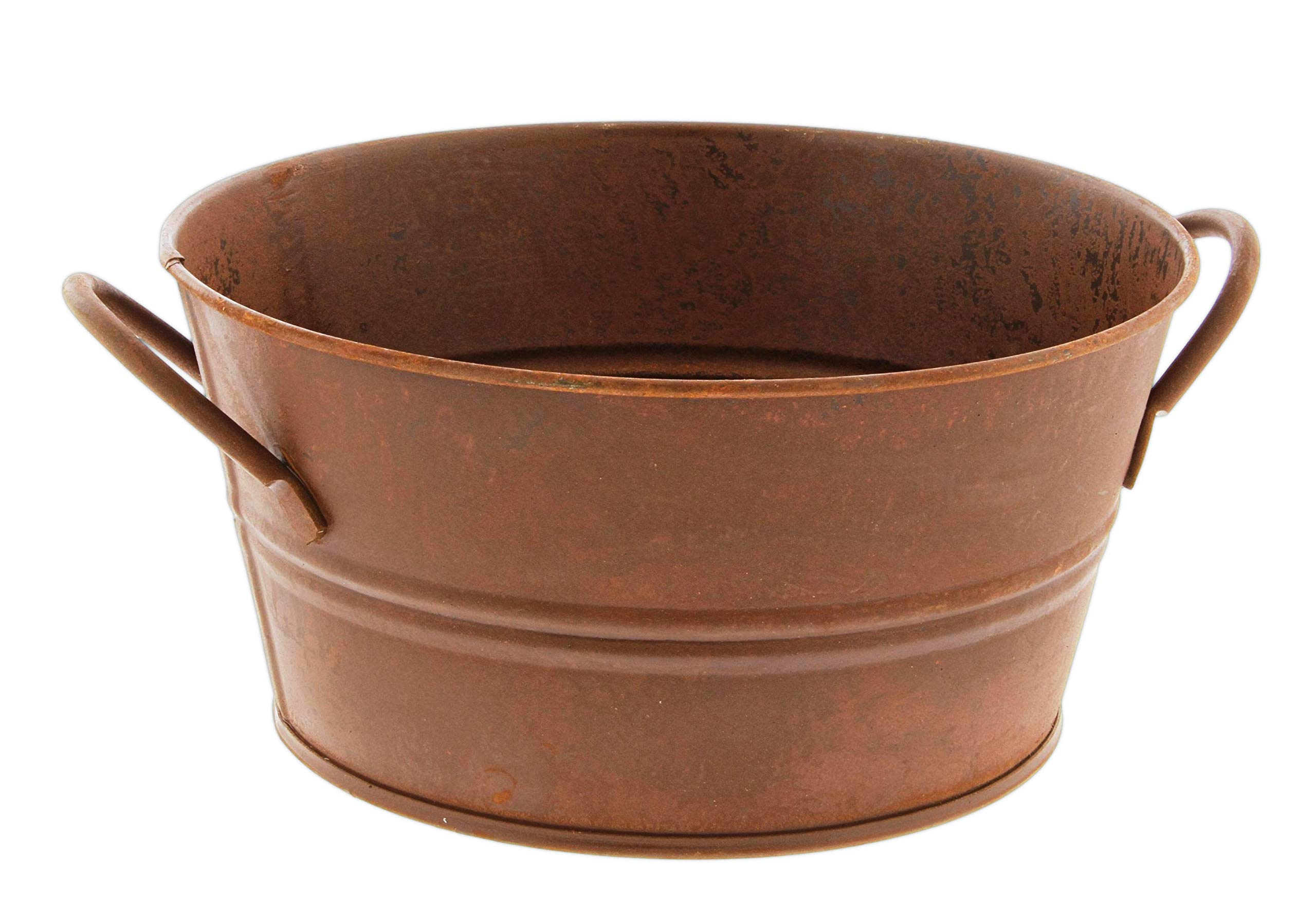 Amazon Com Faux Rusted Metal Bucket Planter Garden Outdoor