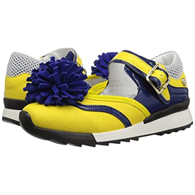 LOVE Moschino Sneaker w/ Pom Pom (Yellow/Blue) Women