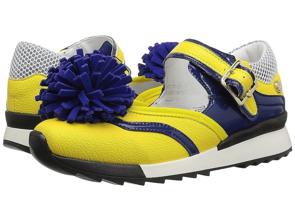 LOVE Moschino Sneaker w/ Pom Pom (Yellow/Blue) Women