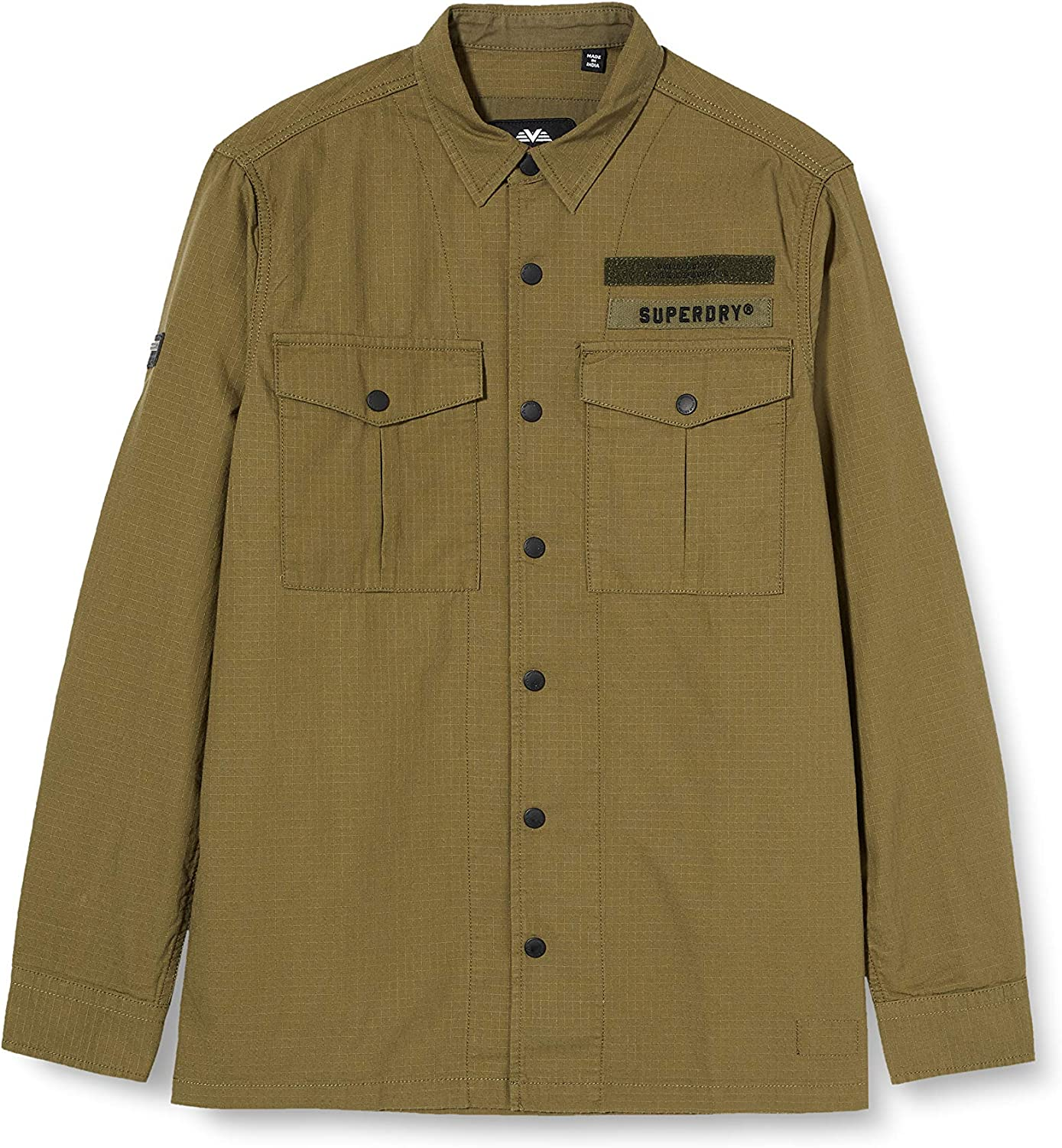 Superdry Utility Field Edition L//S Shirt Chemise Casual Homme