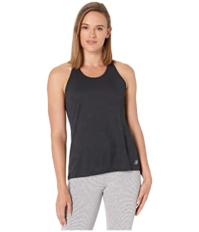 New Balance Q Speed Breathe Tank (Black Heather) Women