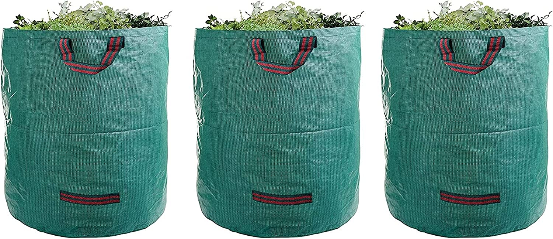 Tent Tarps 72 5 popular Gallons Reusable Garden service Du Waste Bags Heavy 3-Pack