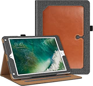 Fintie Case for iPad 9.7 2018 2017 / iPad Air 2 / iPad Air - [Corner Protection] Multi-Angle Viewing 360 Degree Rotating Stand Cover w/Auto Sleep/Wake for iPad 6th 5th Gen, Gray/Brown