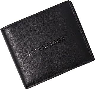 [BALENCIAGA(バレンシアガ)] 二つ折り財布 財布 ブラック ロゴ 485108 DLQHN 1000 [並行輸入品]