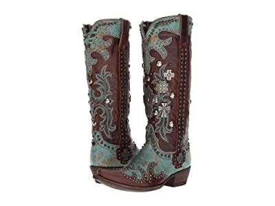 Double D Ranchwear by Old Gringo Ammunition (Turquoise/Brass) Women