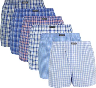 Lower East Men's American Boxer Shorts, Pack of 6 and 10