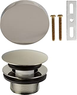 "Absolute Solutions 1-1/2"" Modern Mushroom Bath Waste Trim (Tub Drain and Faceplate)- PVD Polished Nickel"