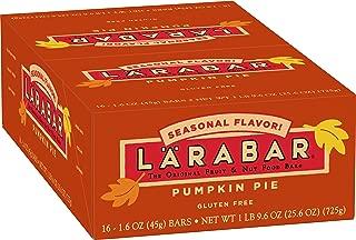 Larabar Gluten Free Bar, Pumpkin Pie, 1.6 oz Bars (16 Count), Whole Food Gluten Free Bars, Dairy Free Snacks