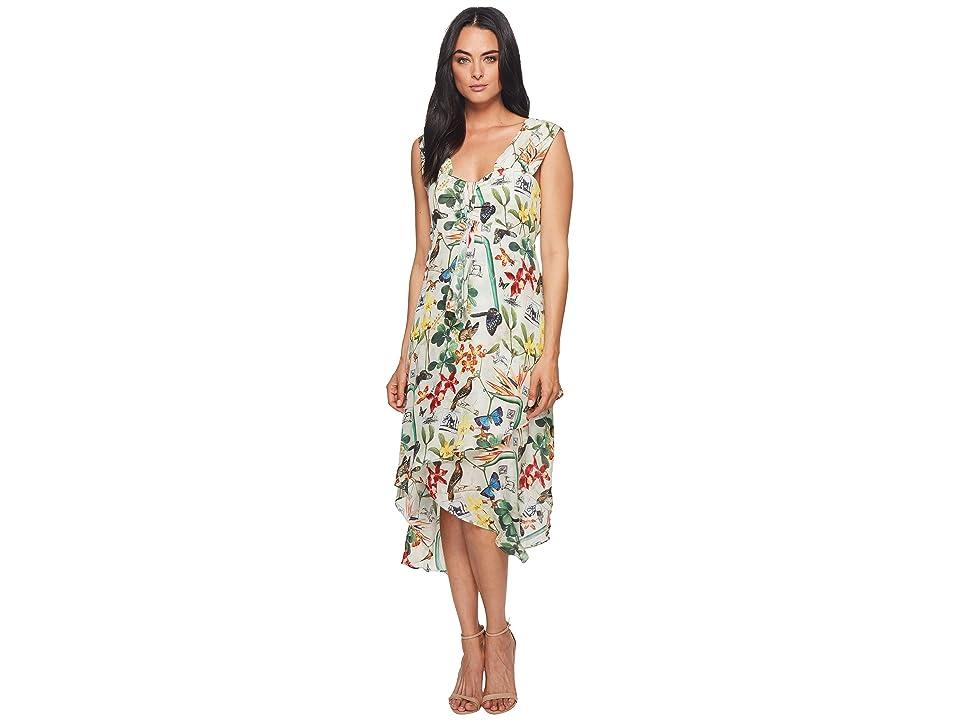 Nicole Miller High-Low Ruffle Dress (Multicolored) Women