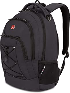 SWISSGEAR 1186 Bungee Laptop Backpack | Ideal for Commuting, Work, Travel, College, and School | Fits 13 Inch Laptop Notebook - Grey